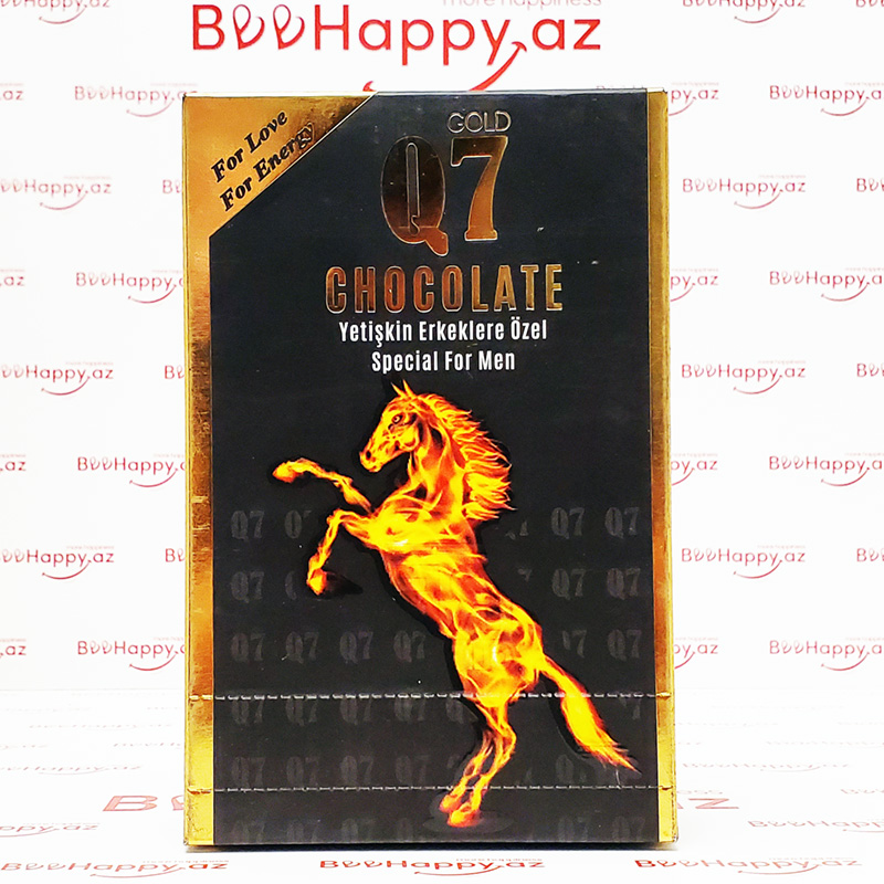 Q7 Gold Chocolate N12 - Gecikdirici və istək artırıcı şokolad