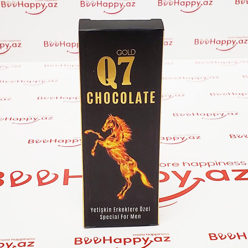 Q7 Gold Chocolate N1 - Gecikdirici və istək artırıcı şokolad